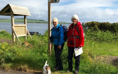 June 2017: Walkers setting out on the West Island Way