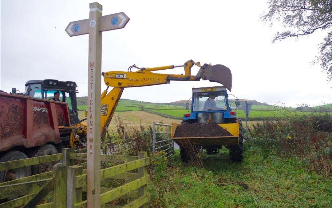 October 2017: Refurbishment works on Tramway Path