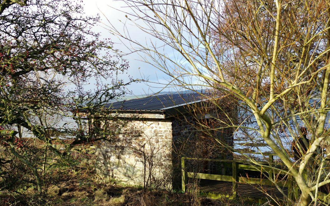 November 2017: New roof for the Ettrick Bay Bird Hide