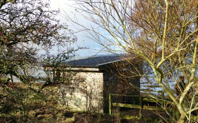 November 2017: New roof for the Ettrick Bay Bird Hide