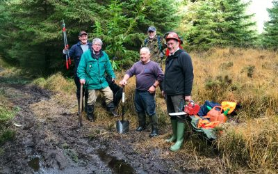 November 2017: Volunteers tackle the effects of rain and undergrowth