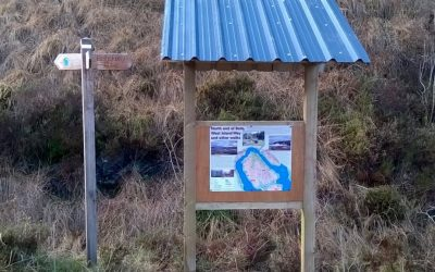 January 2018: New information board and shelter on the West Island Way