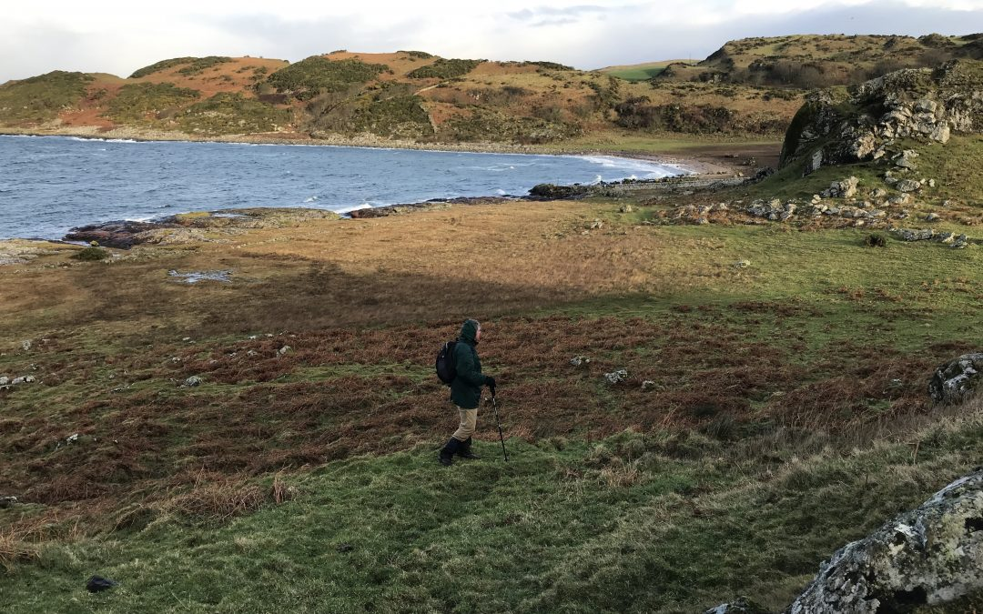January 2018: Checking the walk at Dunagoil