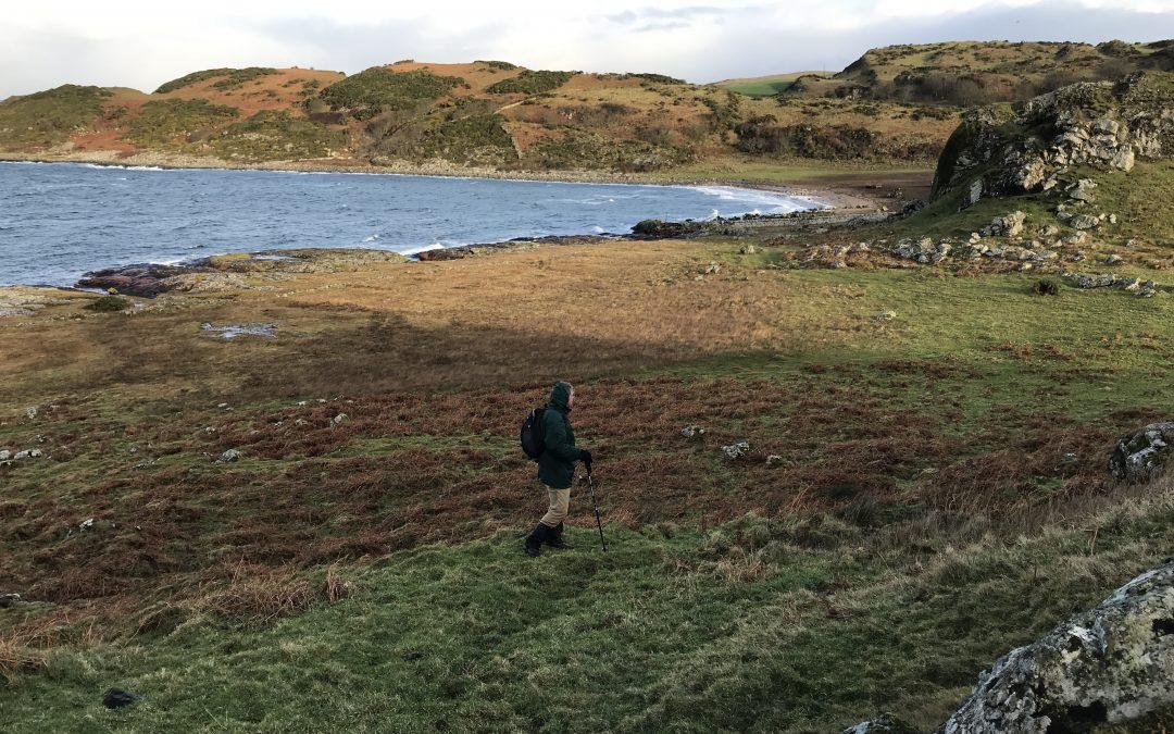 January 2018: Checking the walk at Dunagoil
