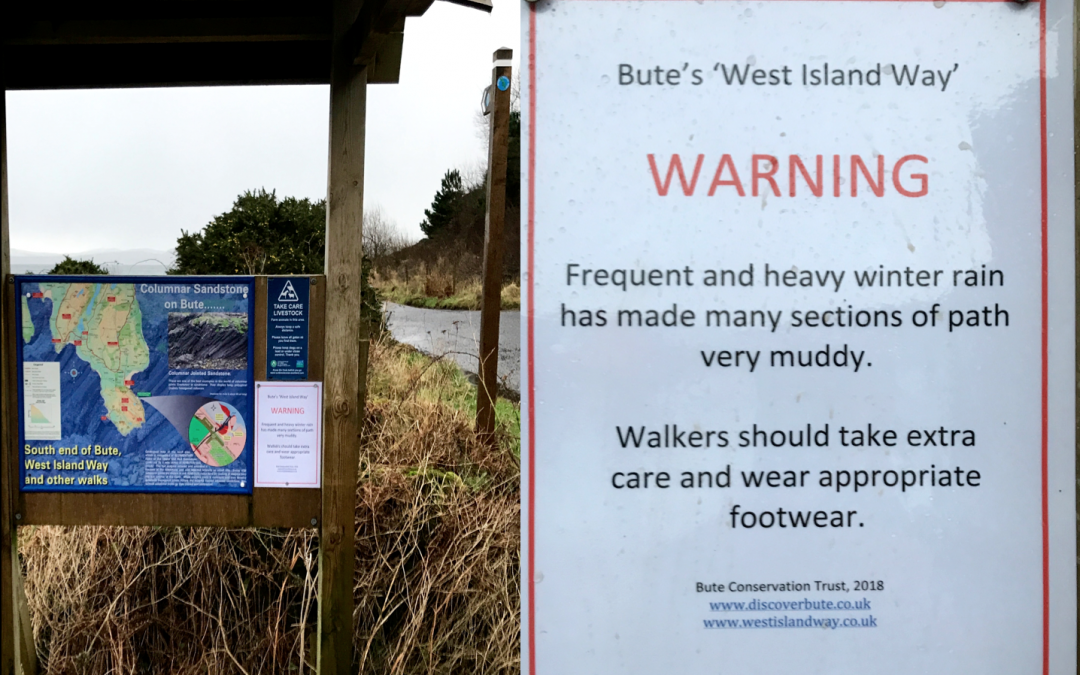 January 2018: A very wet winter…time for a warning to walkers!