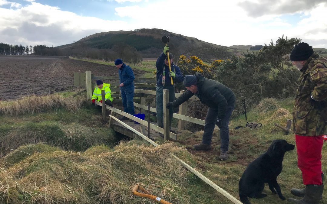 March 2018: Major repairs to one of our 'West Island Way' bridges