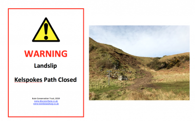 April 2019: Kelspokes Path closed temporarily due to landslip